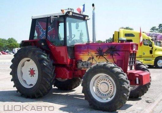 Аэрография на тракторах