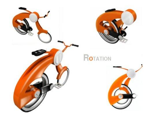 Rotation Folding Bike Concept