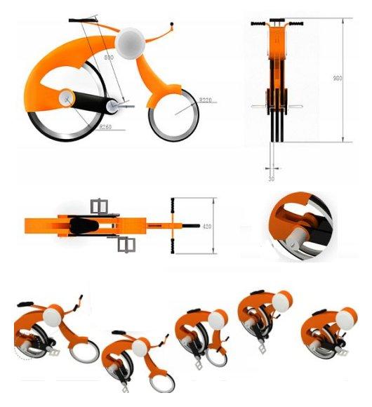 Городской складной велосипед