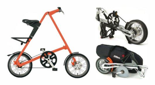 Компактный складной велосипед Strida