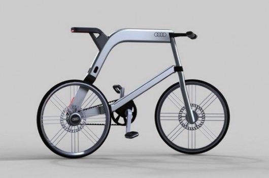 Велосипед Audi с электромотором