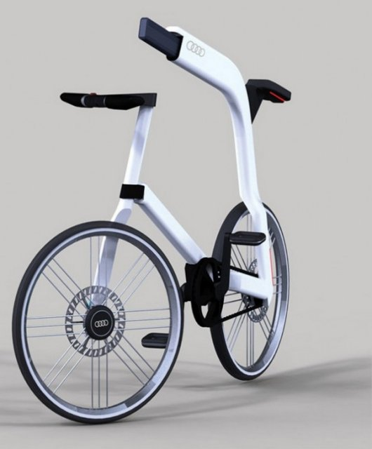 Велосипед Ауди с электродвигателем