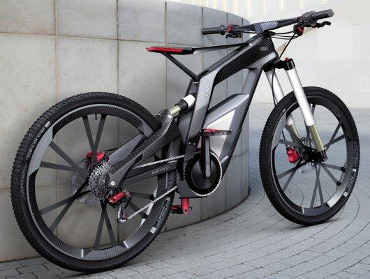 Велосипед Ауди еБайк с электромотором