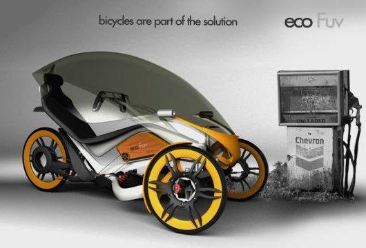 Электровелосипед eco Fuv с крышей