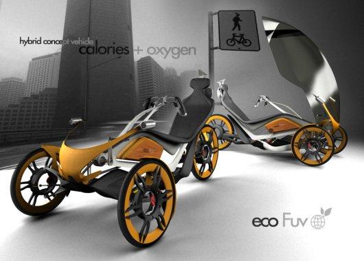 Эко-велосипед eco Fuv с электрическим мотором