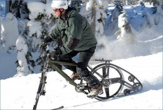 Зимний велосипед KTRAK на гусенице