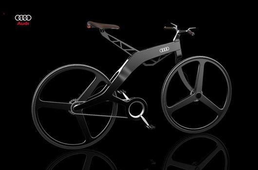 Велосипед Ауди с электромотором