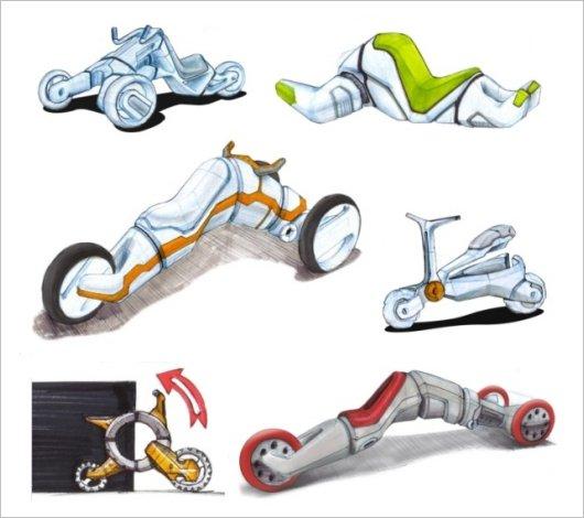 Велотрицикл-трансформер