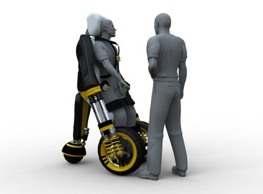 Инвалидная коляска Modiv принимает вертикальное положение
