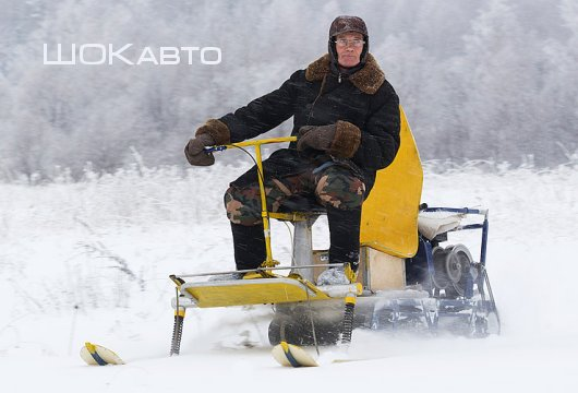 Снегоход из мотобуксировщика