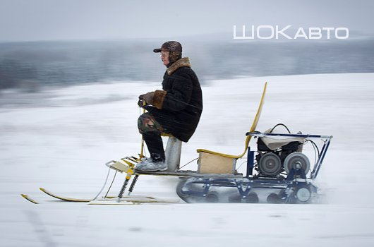 Снегоход из мотособаки своими руками