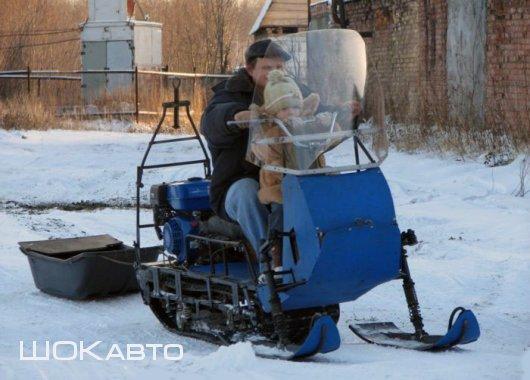Снегоход из мотобуксировщика своими силами
