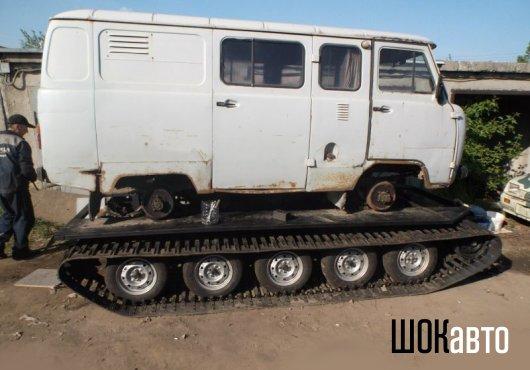 Гусеничная платформа на УАЗ