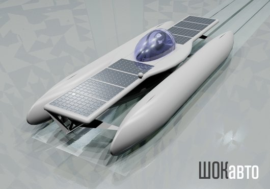 Электротримаран Solar Skate