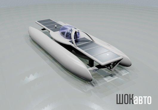 Тримаран Solar Skate с солнечными панелями