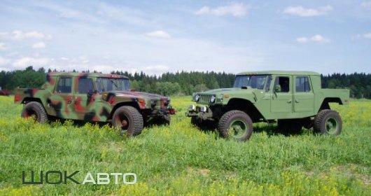 Hummer H1 и ГАЗ-66 Партизан