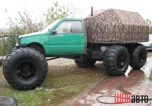 Грузовой вездеход Васюган 6WD с кабиной от автомобиля Ока