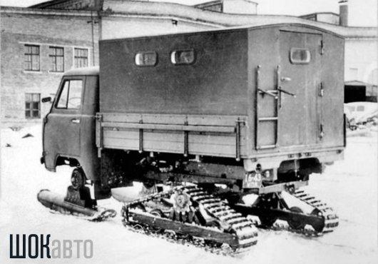 Лыжно-гусеничный грузовик УАЗ-451С «Опытный»