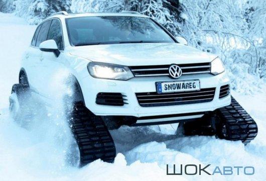 Volkswagen Touareg на гусеницах Mattracks