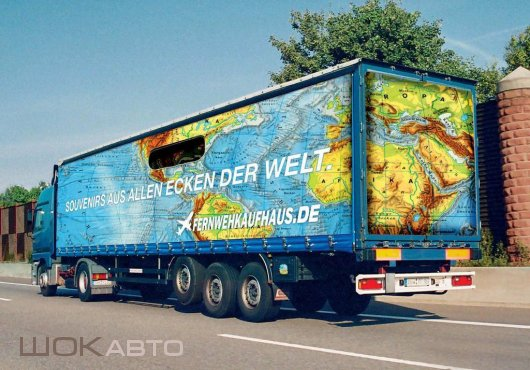 3D-аэрография на грузовых автомобилях