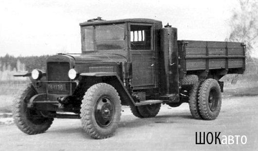 Советский грузовик УралЗИС на газгене