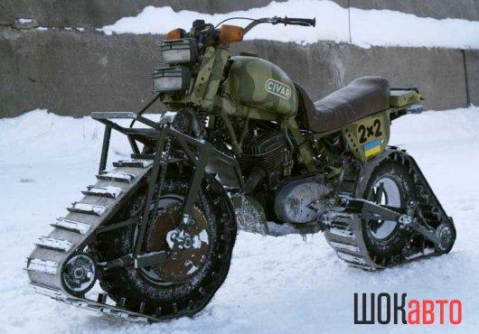 Мотовнедорожники: мотоциклы на гусеницах
