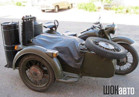 Мотоцикл с газогенератором