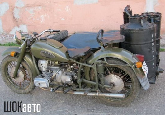 Мотоцикл на дровах