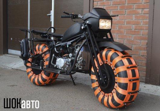 Полноприводный мотоцикл-болотоход Васюган 2WD