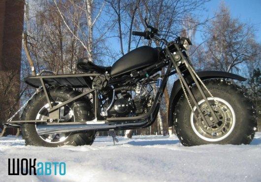Мотоцикл-снегоход Васюган 2×2 с полным приводом