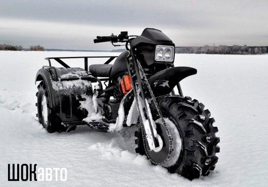 Полноприводный трицикл-снегоход Васюган 3×3