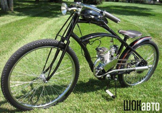 Ретро-велосипед с мотором