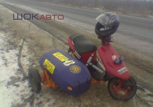 Скутер Suzuki Sepia ZZ Old с коляской