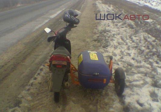 Скутер Сузуки Сепия с мотоциклетной люлькой