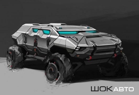 Концепт бронеавтомобиля будущего