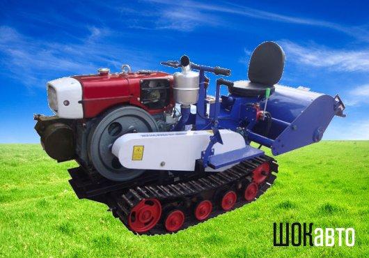 Садовый мини-трактор Земляк на гусеницах