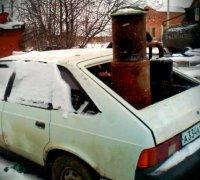 Москвич-2141 с пиролизным газогенератором